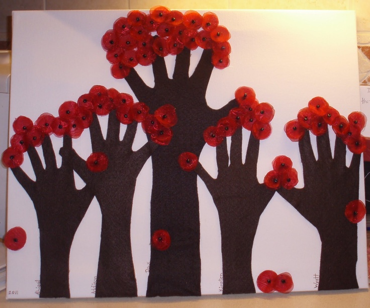 Mother's Day Art... I'd do thumbprints for the blossoms.
