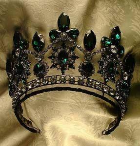 Tsarina Alexandra of Russia emerald and diamond tiara