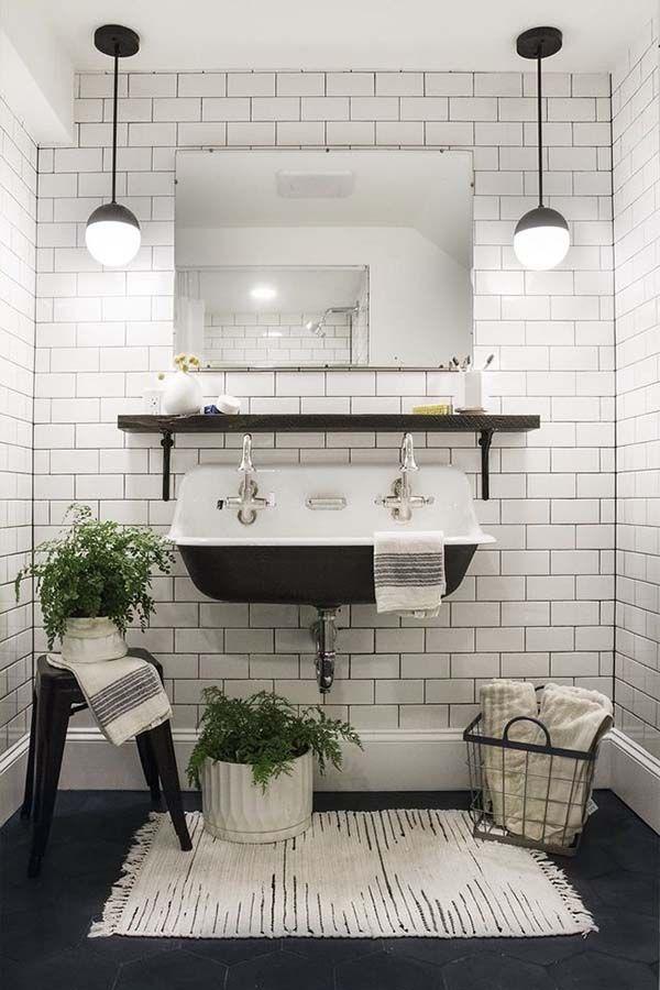 14 Amazing Farmhouse Trough Bathroom Sink Designs Bathrooms