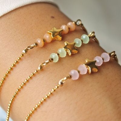 Bracelet bead este bracelet etoile #star #bracelet http://bijouxcreateurenligne.fr/product-category/bracelet-fantaisie/