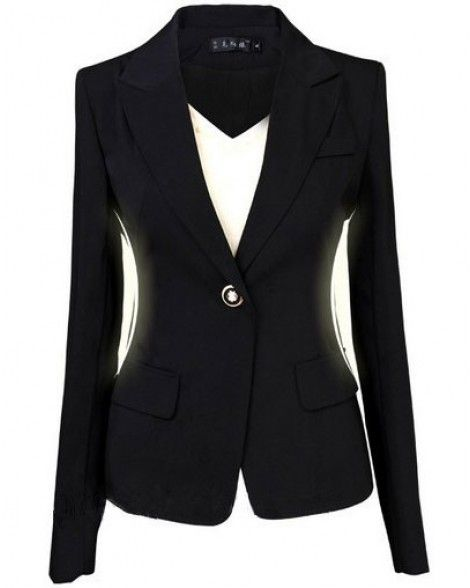 Blazer Plus Size Suits for Women Work Wear Black Blazer