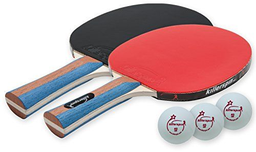 Man Cave- Killerspin Jet Set 2-Premium Table Tennis Paddle Set with balls -- You…
