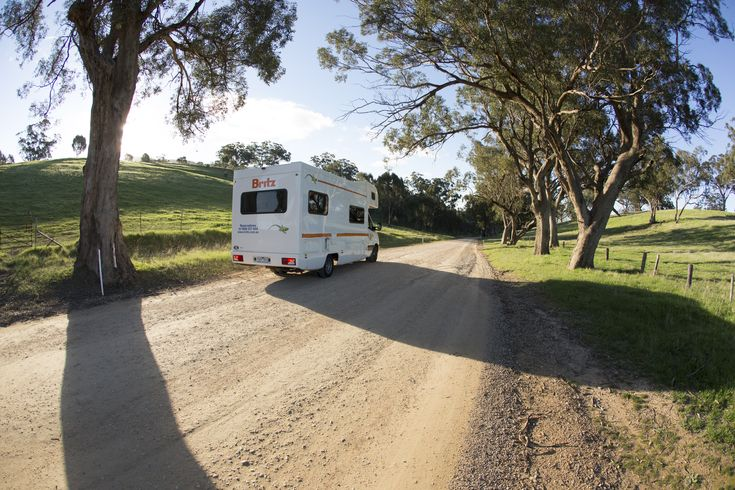 Adelaide campervan on the road
