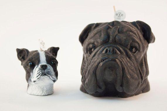 English bulldog & Boston Terrier Scented Candle