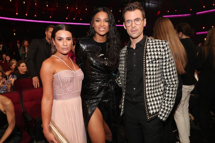 Best Pictures From the 2017 American Music Awards | POPSUGAR Celebrity | Pictured:Lea Michele, Ciara, and Brad Goreski  Image Source:Getty / Chris Polk/AMA2017