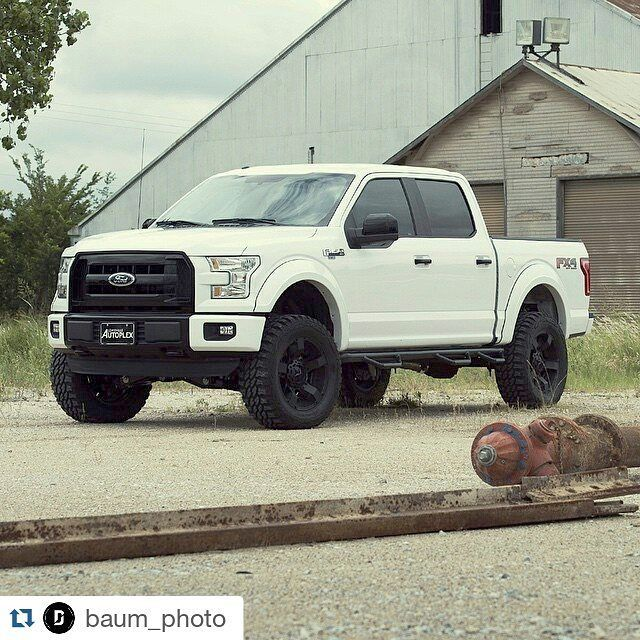 Nerf Steps Bed Access Steps.  #Repost @baum_photo  Stormtrooper | #f150 #lifted #liftedtruck #ford #xdwheels #dallas #offroad #procomp #lhautoplex #twitter