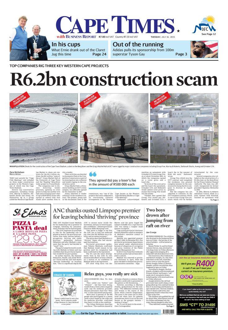 News making headlines: R6.2bn construction scam