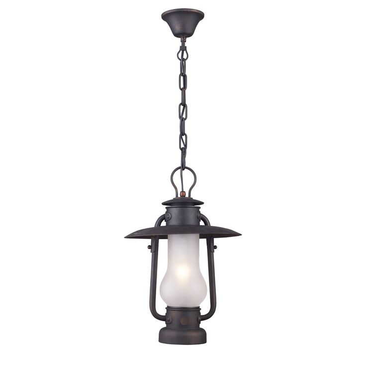 Chapman 1 Light Pedant In Matte Black And Acid Etched Glass