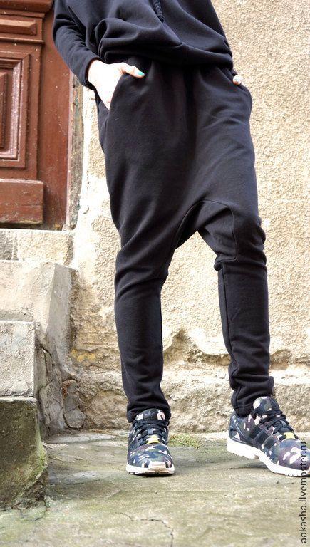 Купить Брюки French Terry - спортивный стиль, спортивный костюм, штаны с мотней, брюки летние