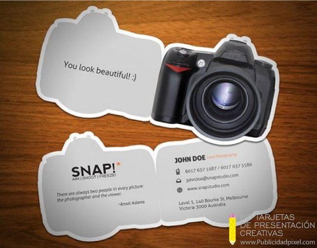 tarjetas de presentacion creativas para fotografos