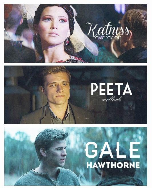 Katniss Everdeen Peeta Mellark Gale Hawthorne Hunger