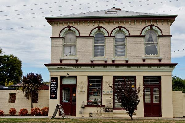 The Cafe Zeta heritage building at 20 Gilbert Street, Latrobe... a little history. Article and photo by Carol Haberle for Think Tasmania.