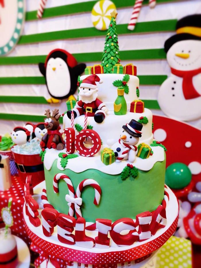 Christmas Themed Birthday Cake L Mybirthday