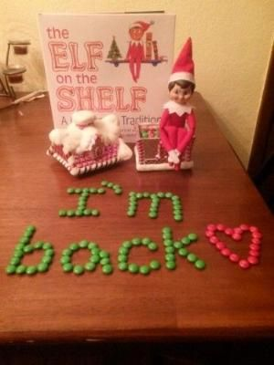 "Elf on the Shelf ideas ""Welcome Back!""... For Raegan's Snowflake by aileen"
