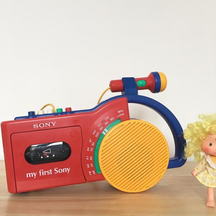 Orangevertevintage — Radio Cassette Magnétophone Vintage My First Sony