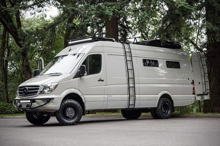 Die US-amerikanische Tuning-Werkstatt Outside Van hat sich – wenig überraschend bei dem Namen – darauf spezialisiert, Transporter in voll ausgestattete Wohnmobile zu verwandeln. Als Basis dient stets ein Mercedes Sprinter, der dann nach den individuellen W