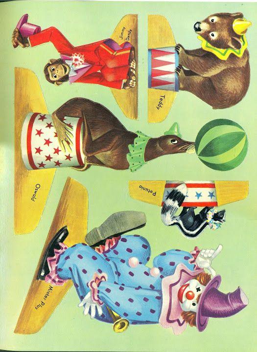 Circus Push Outs 1953 Bobe Green Webov 233 Albumy