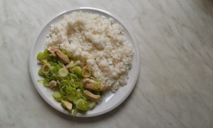 kuřecí na pórku s rýží