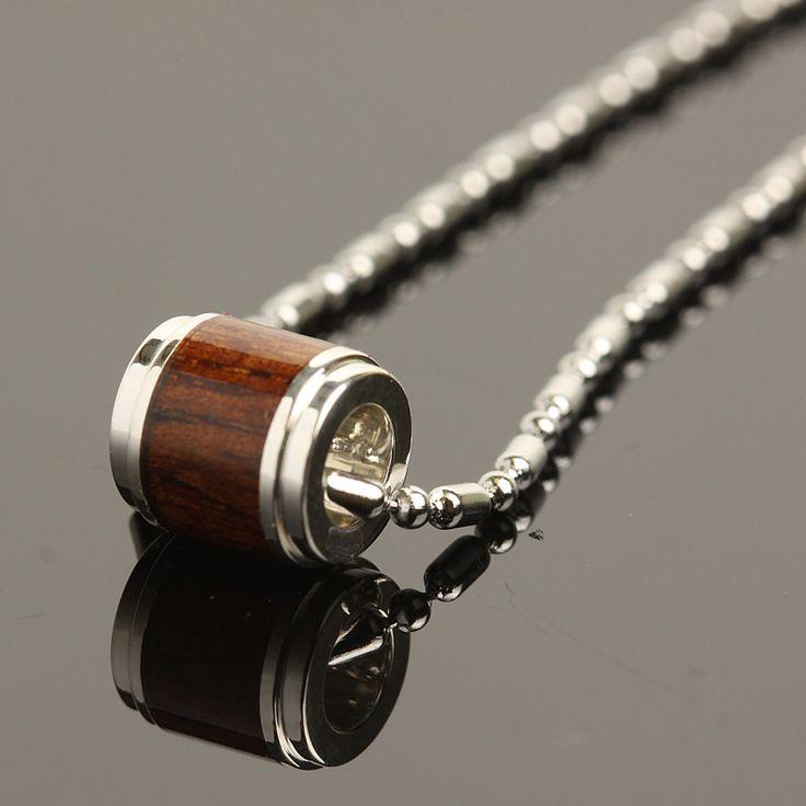 Hawaiian Jewelry Silver Koa Wood Pendant 8mm - Makani Hawaii,Hawaiian Heirloom Jewelry Wholesaler and Manufacturer