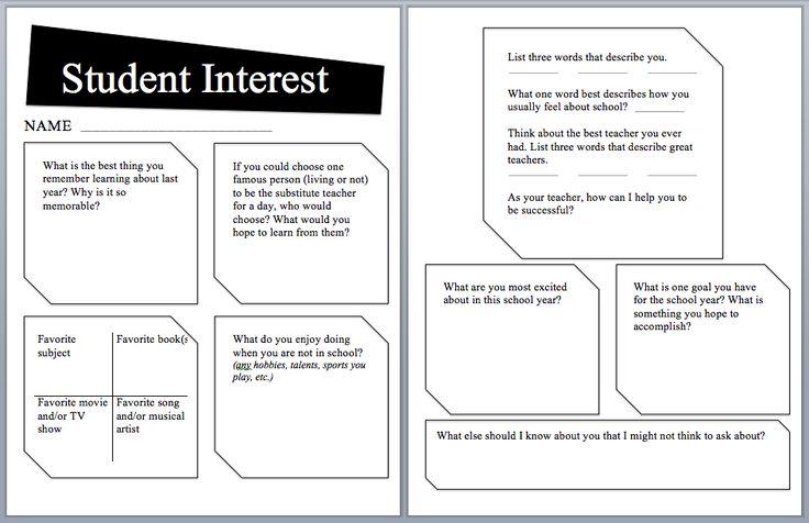 Best 25+ Student interest survey ideas on Pinterest