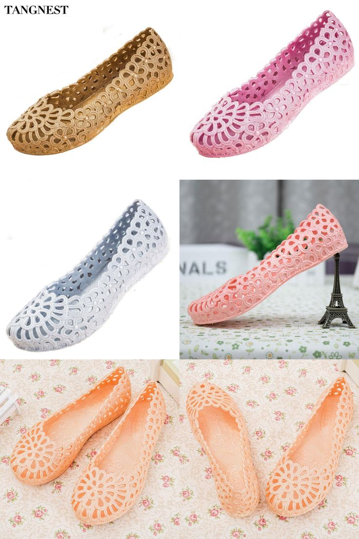 [Visit to Buy] Tangnest Woman Jelly Sandals 2017 Sweet Cut-out Ballet Flats Female Soft Slip-on Sandals Plastic Shoes Woman Size 36-41 XWZ2831 #Advertisement