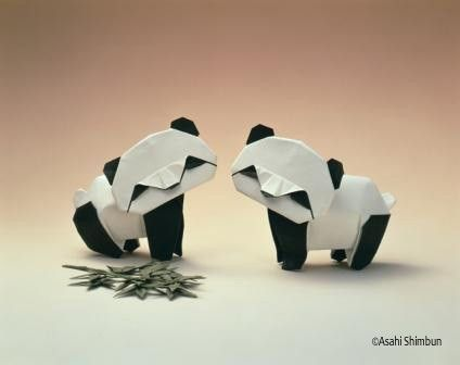 Crafty Stuff, Pandas Origami, Paper Art, Pandas Bears, Akira Yoshizawa, Origami Art, Origami Pandas, Craft Ideas, Crafts