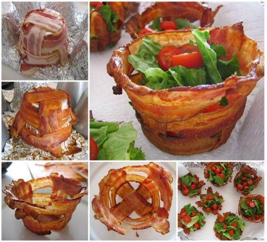 Bacon Salad Cups Tutorial