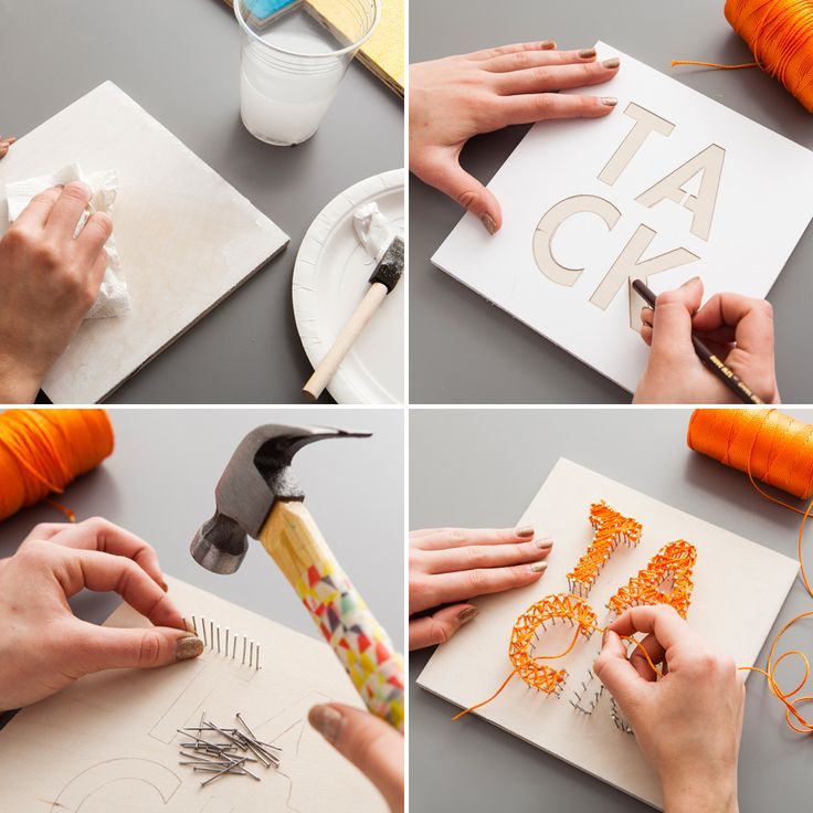 5 Clever Ways to Turn Words into Wall Art via Brit + Co.