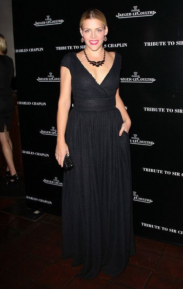 Busy Philipps Evening Dress - Busy Philipps wore this black textured dress to the Charlie Chaplin Honorary Academy Award event.