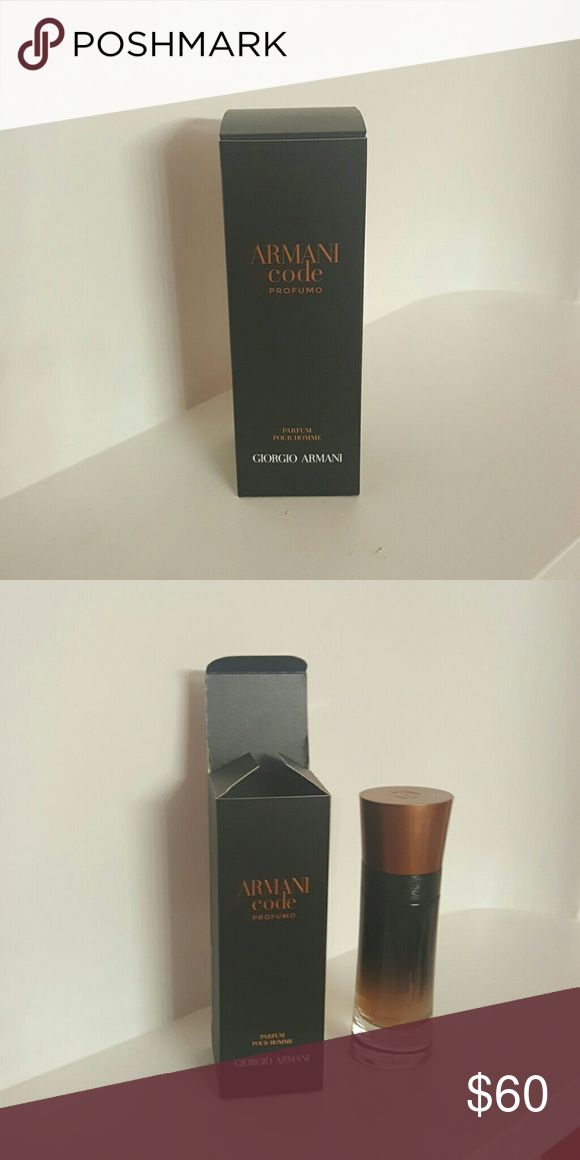 XMAS IS COMING. Mens perfume ($90 value) Armani code perfumo 2oz Other