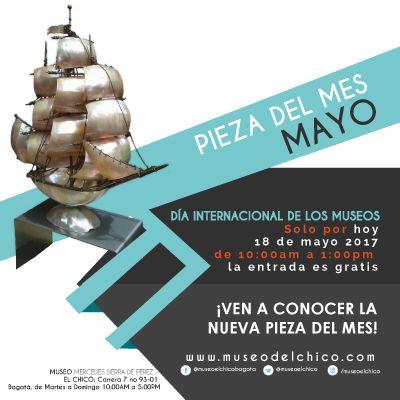 Feliz día internacional de los museos, por este motivo tendremos entrada #gratis el 18 de mayo de 2017 desde la 10:00am hasta la 1:00pm así que ven y conoce la nueva pieza del mes de Mayo. #díadelosmuseos #museos #feliz #arte #nueva #mayo #MuseoelChicoBogotá Visita nuestro nuevo sitio web: http://www.museodelchico.com/ síguenos en Facebook: https://www.facebook.com/museoelchicobogota/ síguenos en Instragram: https://www.instagram.com/museoelchico/ síguenos en Twitter…