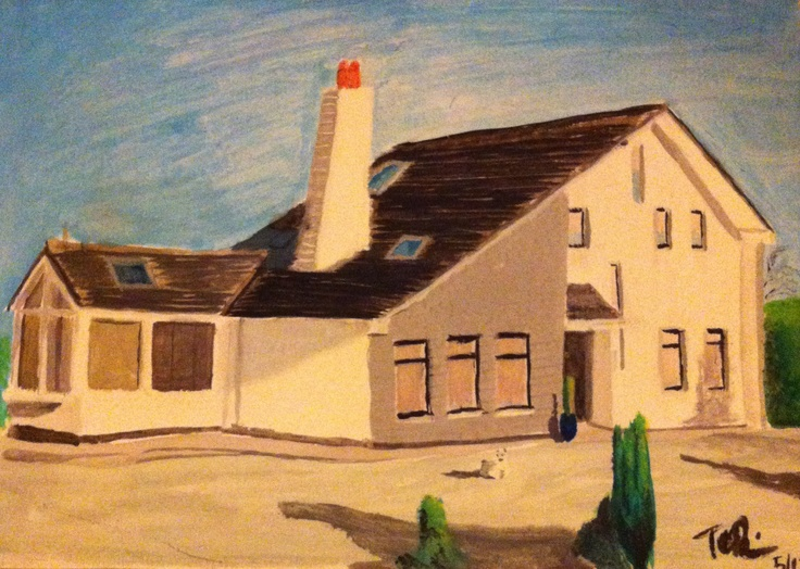 Quealy house. Watercolour on paper.