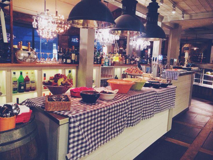 Breakfast buffé at the best bakery in Åre , Sweden