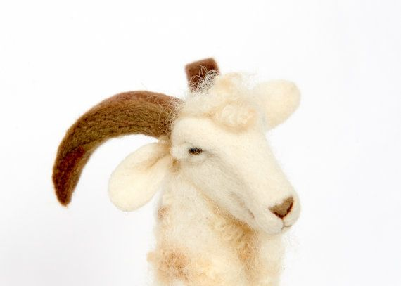 Needle Felted Goat // Goat Finger Puppet // Felted от PetitFelts