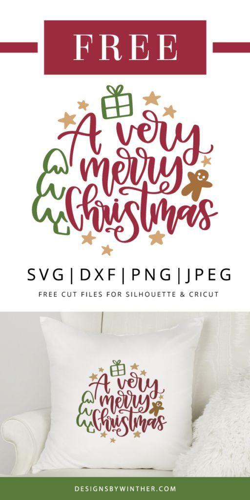 Eine sehr frohe Weihnachten Svg-Datei für Schneidemaschinen wie Silhouette und …   – Cricut