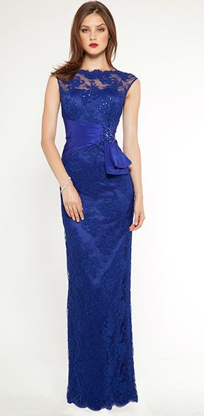 Teri Jon mother-of-the-bride dress - Sapphire blue evening gown