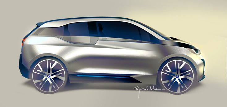 BMW i3 Design Sketch
