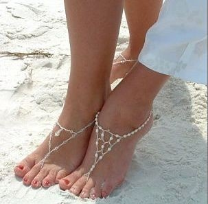 """beach wedding """"shoes"""" yup this is the only way I'd wear shoes when I get married: Beach Wedding Attire, Idea, Barefoot Sandals, Beaches Sandals, Wedding Shoes, Pinterest Pin, Beach Weddings, Beaches Shoes, Beaches Weddings Shoes"""