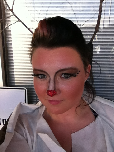 Rudolph the red nosed reindeer makeup