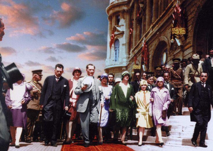 Ataturk and modern Turkish women, 1930s. World Women's Day 8th March
