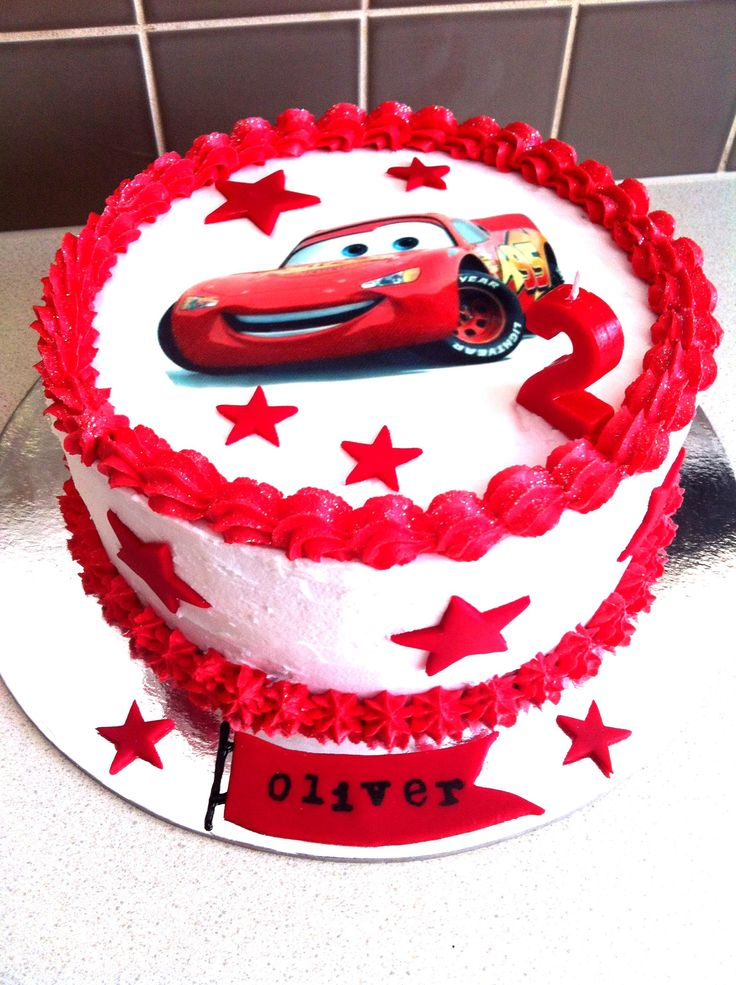 Cake Design Cars Theme : Lightning McQueen birthday cake Lightning mcqueen birthday H3 Pinterest Birthday cakes ...