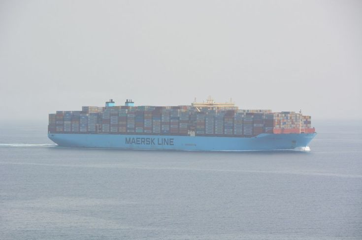 MARSTAL MAERSK -container vessel navigating in red sea on her route to Suez canal