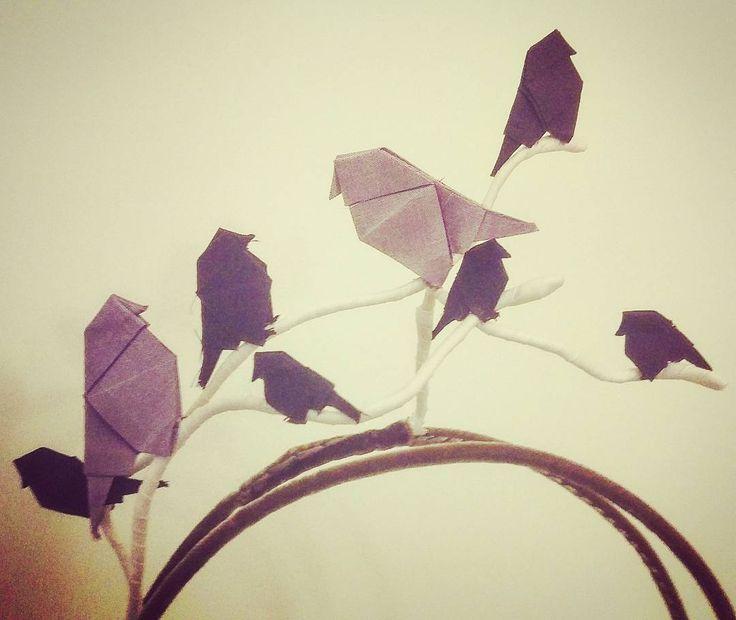 Silk Origmani bird wire headpieceby Lauren J Ritchie