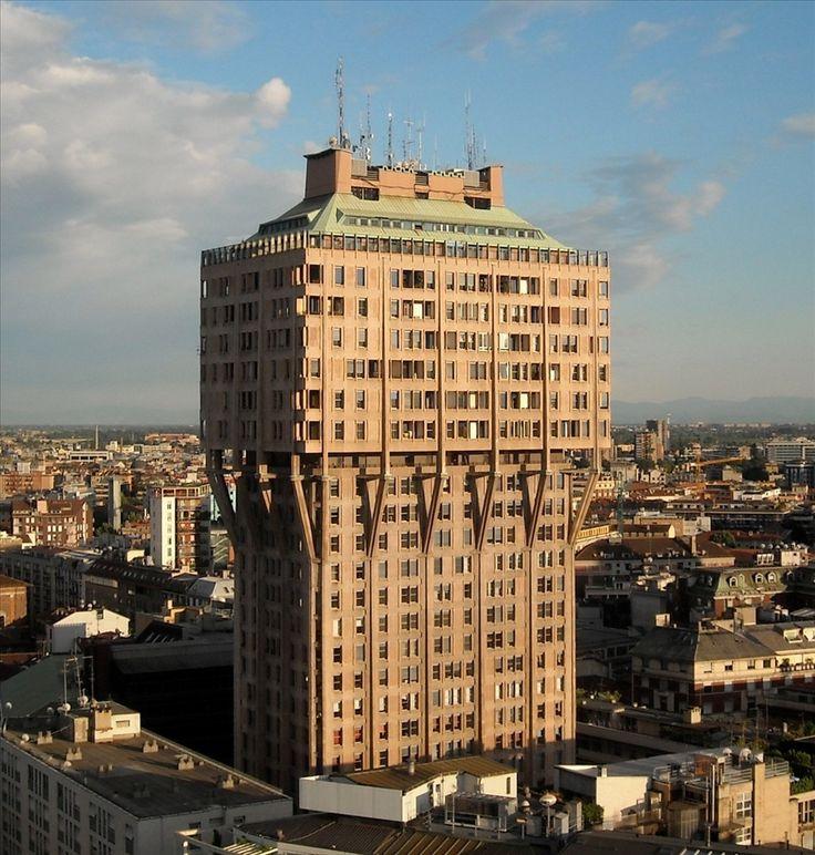 Brutalist architecture, Torre Velasca (Velasca Tower), Milan, Italy / BBPR (1950s)