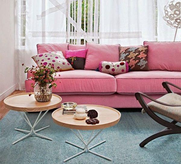 sofa rosa arrumadissimo