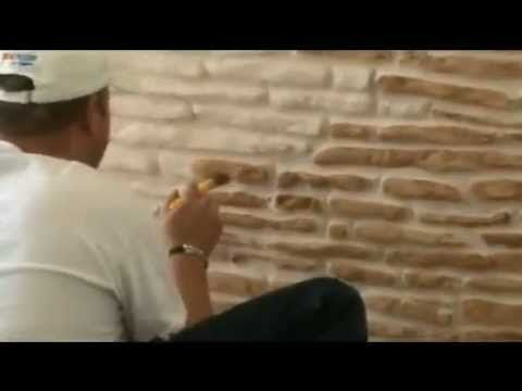 Пенопласт декор: кирпичная, каменная кладки. - YouTube
