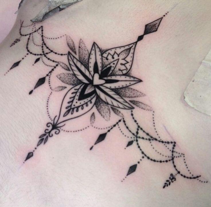 25+ trending Sternum tattoo design ideas on Pinterest | Lotus ...