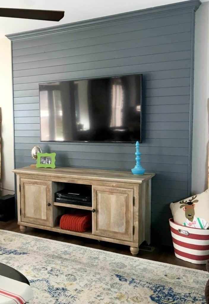 Wood Plank Tv Wall Tv Wall Decor Living Room Tv Living Room Tv Wall