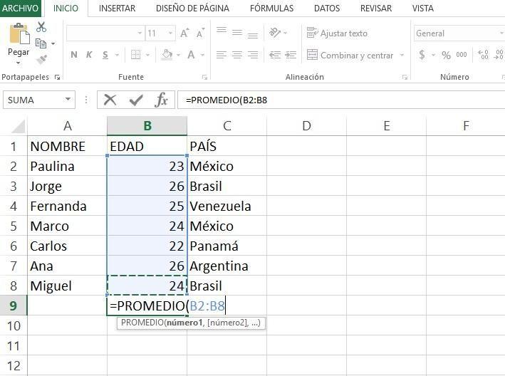 Promedio Fórmula Excel Formula Excel Microsoft Excel