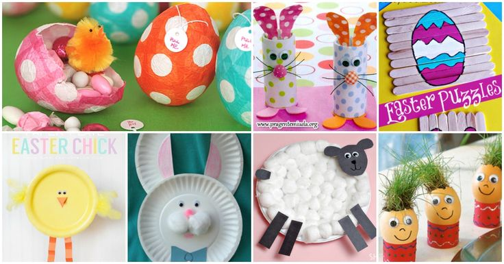 40 Fun and Creative Easter Crafts for Kids and Toddlers via @vanessacrafting
